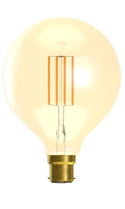 BELL 01471 4W LED Vintage 125mm Globe Dimmable BC Amber 2000K